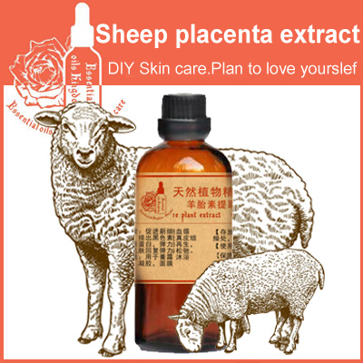 Free shopping 100% pure sheep placenta extract 100ml moisturizing anti aging wrinkle firming skin care 98% pure piperine extract