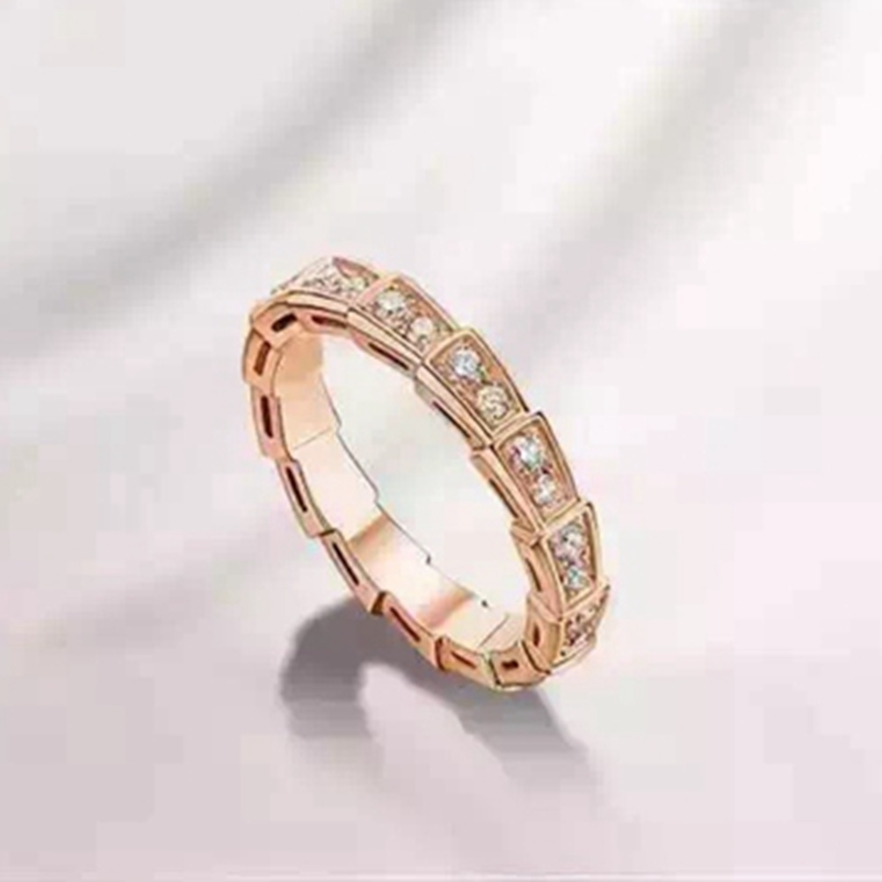 BLH15 Full Stackable Zircon Serpenti Finger Ring 925 Silver Createdd Diamond Ring for Women Bridal Wedding Jewelry Кольцо