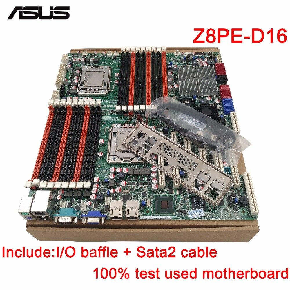 original Used Server motherboard For Asus Z8PE-D18 Socket 1366 W5500/X5500/E5500/L5500 Maximum 8*DDR3 128GB 10xSATAII ATX