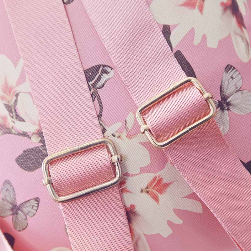 044a59140a0f New Women Butterfly Flower Small Backpack Printed PU Leather Lady Fashion  Cute Travel Backpacks WML99 – minahmod