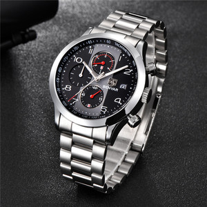 Image 3 - BENYAR reloj para hombre, cronógrafo de lujo, resistente al agua, militar, de pulsera, deportivo, de acero, masculino, 5133