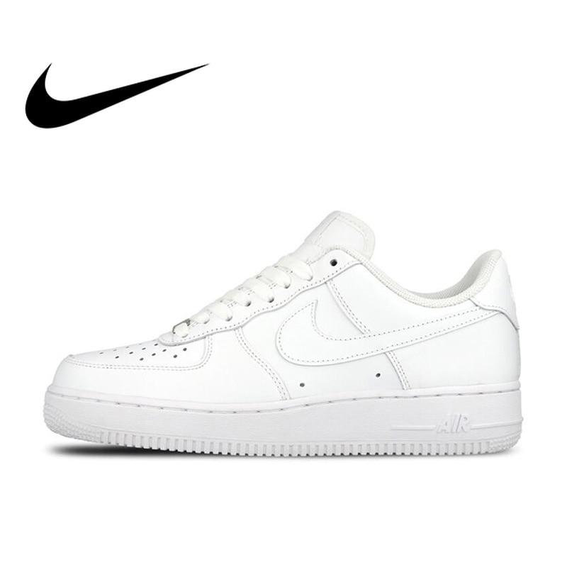 Original Official Nike AIR FORCE 1 AF1 Men Breathable Skateboarding Shoes  Low-top Trainers Sports b027acf8de11