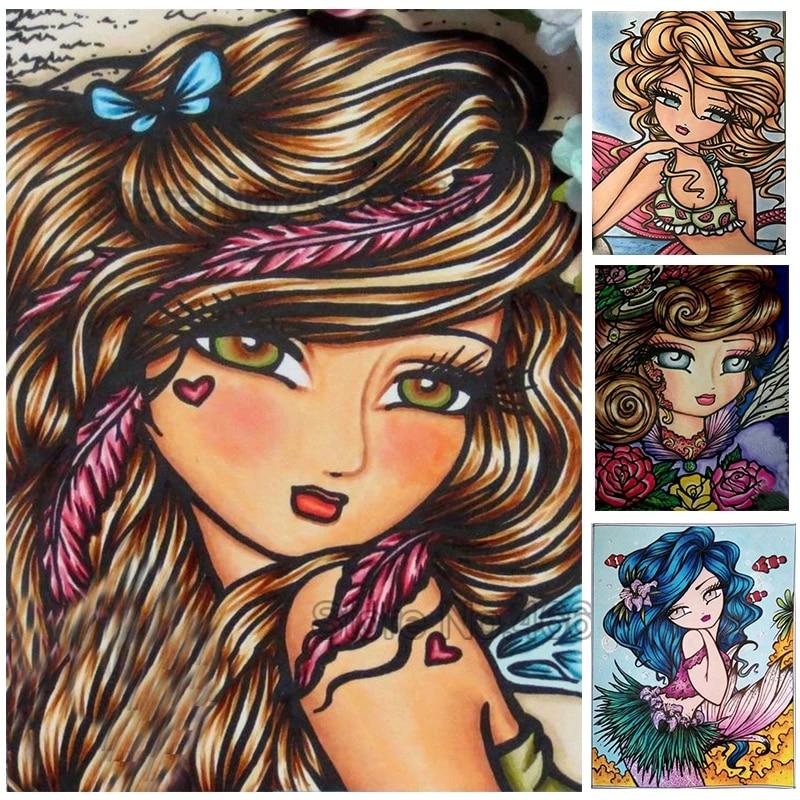 5D DIY Diamond Painting Cratoon Girl Full Drill Diamond Embroidery Kit Cross Stitch Home Decor Painting Crafts