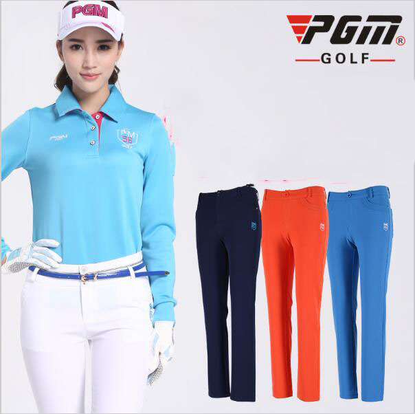 2016 autumn! Belt conveyor! Golf pants ladies trousers winter clothing decoration height Pinball pants