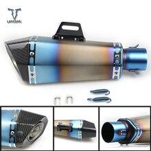36 51mm universal cnc tubo de escape da motocicleta com silenciador para triumph daytona 675 velocidade triplo/daytona 675 r velocidade triplo