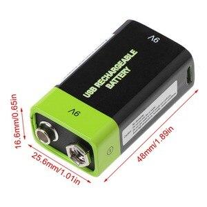 Image 5 - Batería Lipo 6F22 recargable por USB, 9V, 400mAh, para multímetro, micrófono, mando a distancia