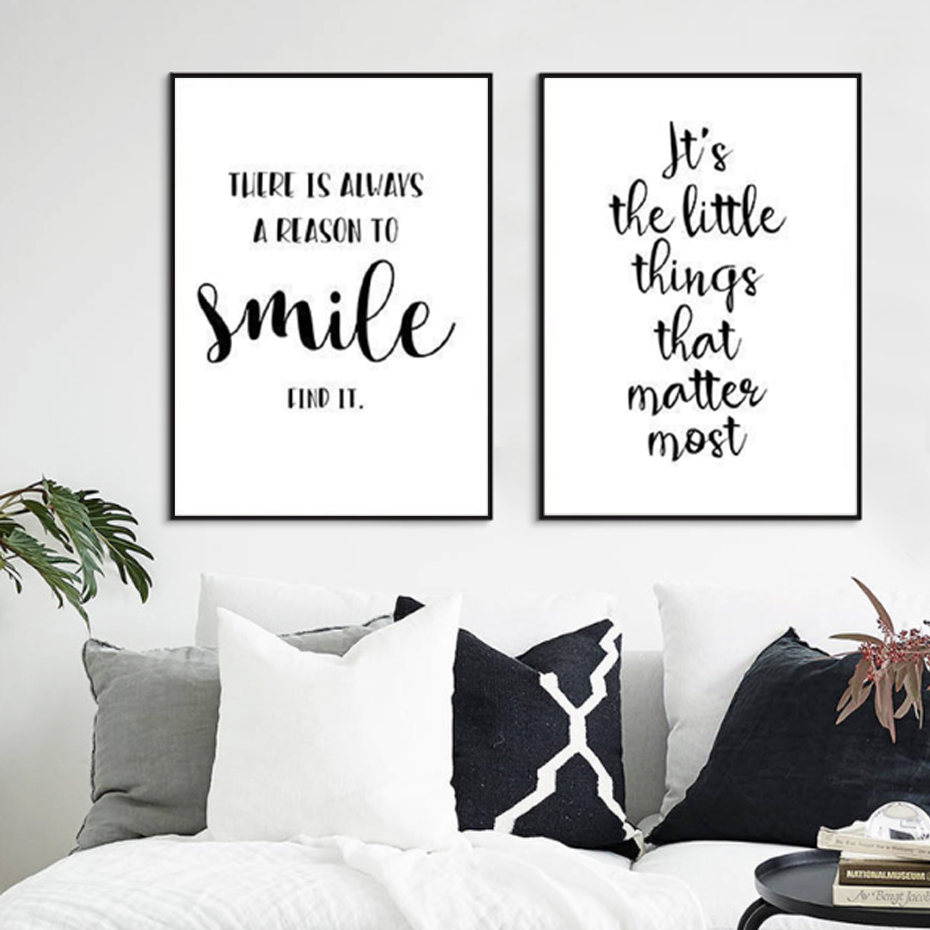 Black /& White Modern Dream Quote Nursery Childrens Room Print Wall Art Picture