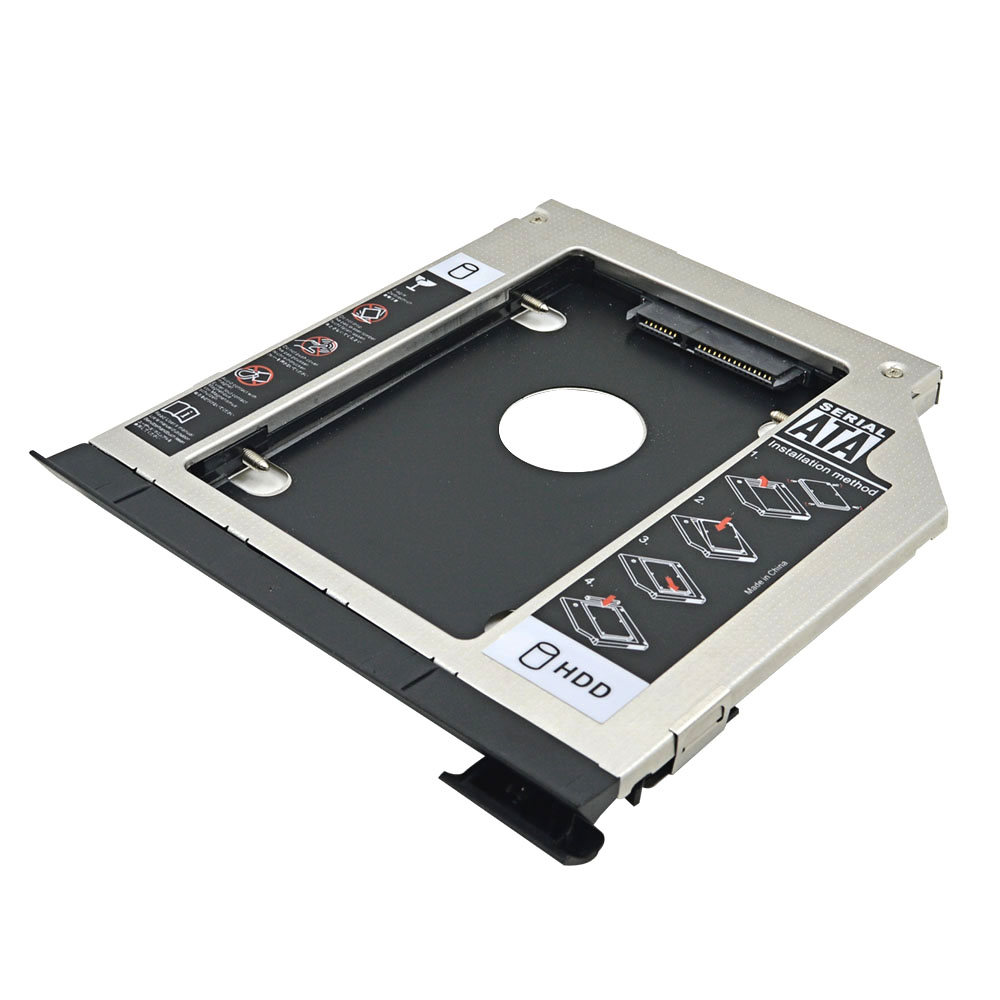 Aluminum 2nd HDD Caddy 9 5mm SATA 3 0 2 5inchHDD Case Enclosure For Dell Latitude E6320 E6420 E6520 E6330 E6430 E6530 DVD Optibay