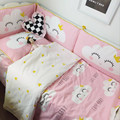 2 Unids/set Parachoques Cama de Bebé de Algodón de Dibujos Animados de Impresión Activo Anti-colisión de Ventilación Caliente Tope Del Pesebre Infantil Cama ropa de Cama de Bebé