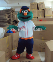 High Quality Green Monster Elmo Mascot Costume Adult Character Costume Mascot As Fashion Cosplay