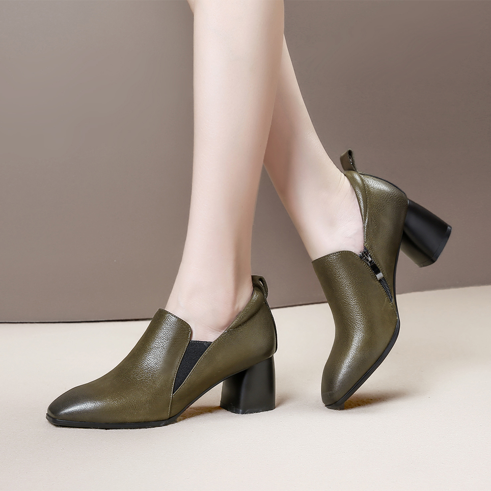 Bimolter Female Fashion Cow Leather Shoes High Quality Genuine Leather Women Pumps Casual Classic Ladies 39 Office Shoes LCEB005 in Women 39 s Pumps from Shoes
