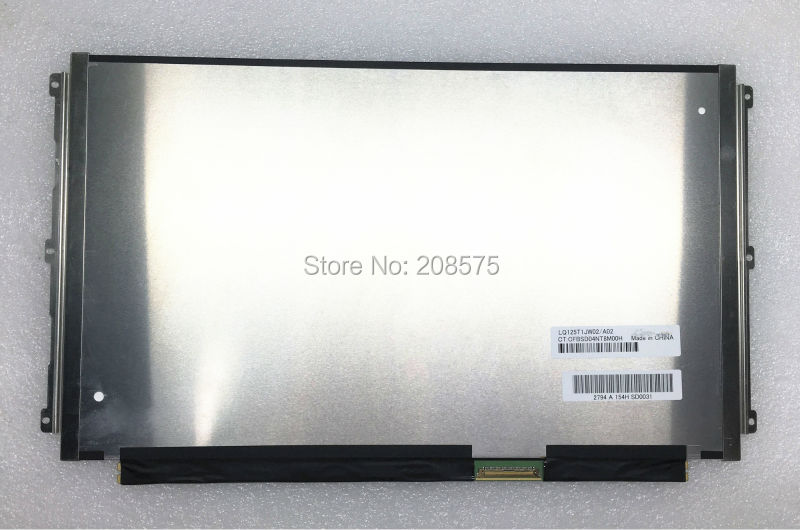 Free Shipping LQ125T1JW02 LQ125T1JW02/A02 12.5inch 2560*1440 Quad-HD 72% NTSC 40pin EDP IPS lcd screen цены онлайн