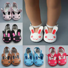 Girl Toy Gift 18 Inch 45cm American doll 7cm Doll Shoes Mini Leather For Baby Reborn