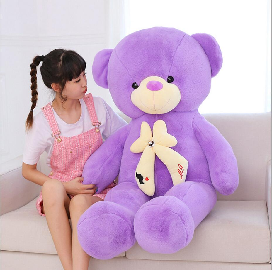140cm Large Stuffed Teddy Bear Plush Animal Me To You Teddy Doll Big Bear Plush Toys For Girls Birthday Valentine Gift Toy giant teddy bear plush soft toys doll bear sleep girls gifts birthday kawaii large teddy bear stuffed animal plush toy 70c0426