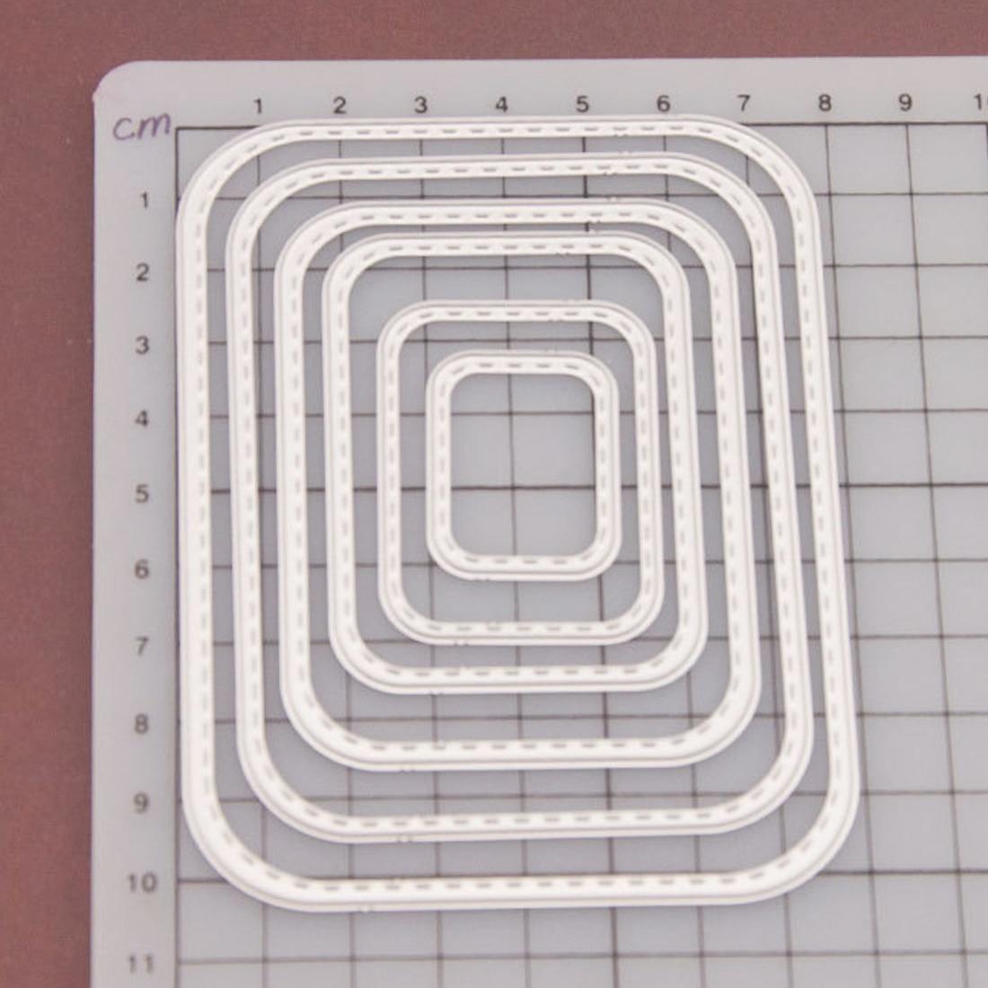 8pcs Scrapbook DIY album Card Paper Card Maker Metal Die cut Stencil sewing