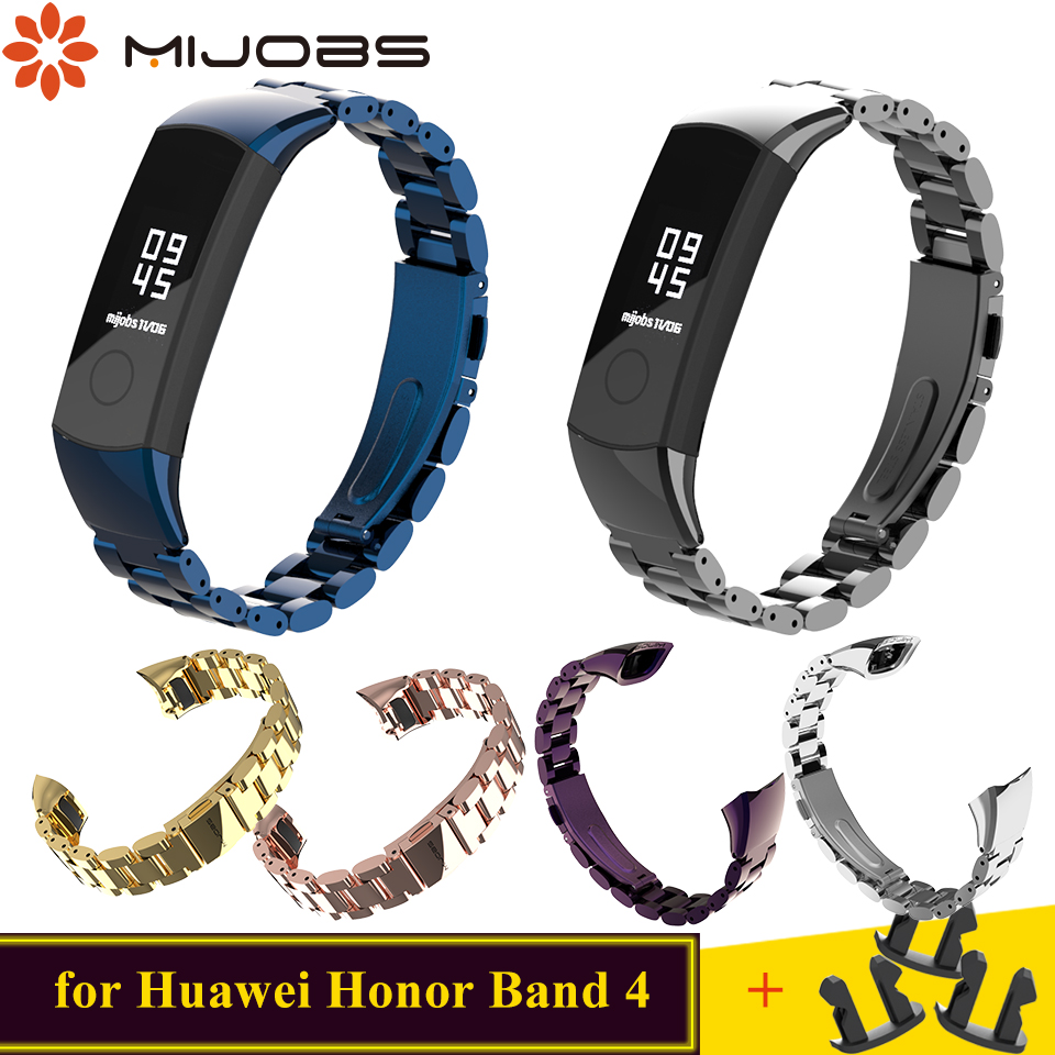For Huawei Honor Band 4 Strap Metal Strap For Honor Band 5 Strap Watchband Wristband Stainless Steel For Honor Band 3 Smartwrist