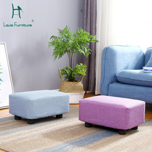 Louis Fashion Stools Ottomans Solid Wood Simple Sofa Stool Living Room Cloth Shoes for Household Use