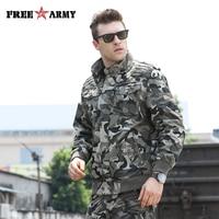 Fashion Army Green Jackets Men Military Clothing Men Bomber Jackets Camo Jacket Male Designer Clothes Men's Jean Jacket MS-6052