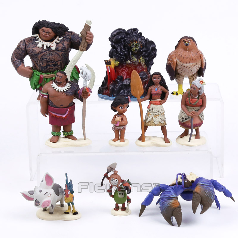 Clever Moana Maui Action Figures Toy Doll With Retail Box Toys & Hobbies