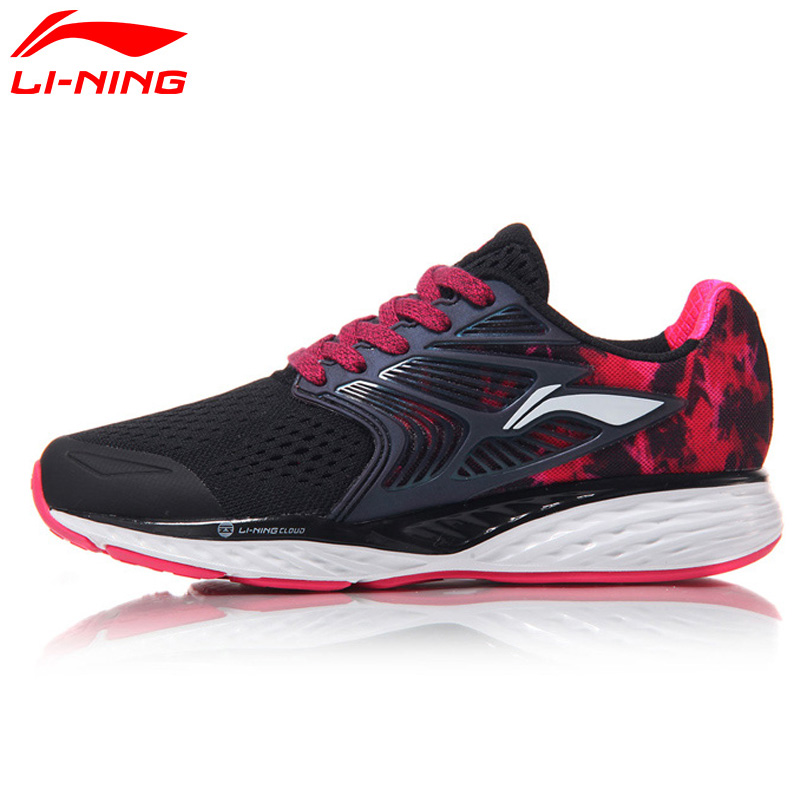 Li Ning Women Shoes Cloud IV Cushion Running Shoes Reflective Heel Li Ning Stability Sneakers LI NING Light Sports Shoes ARHM026 li ning original men sonic v turner player edition basketball shoes li ning cloud cushion sneakers tpu sports shoes abam099