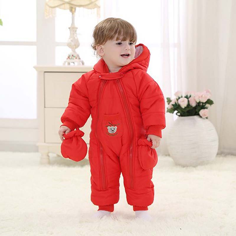 1Pcs Kids Winter Coverall Coats Clothing Thick Warm Clothes Outside Baby Clothes Set Boy Suits Long Sleeve with Hat Cotton Cloth 2pcs set baby clothes set boy