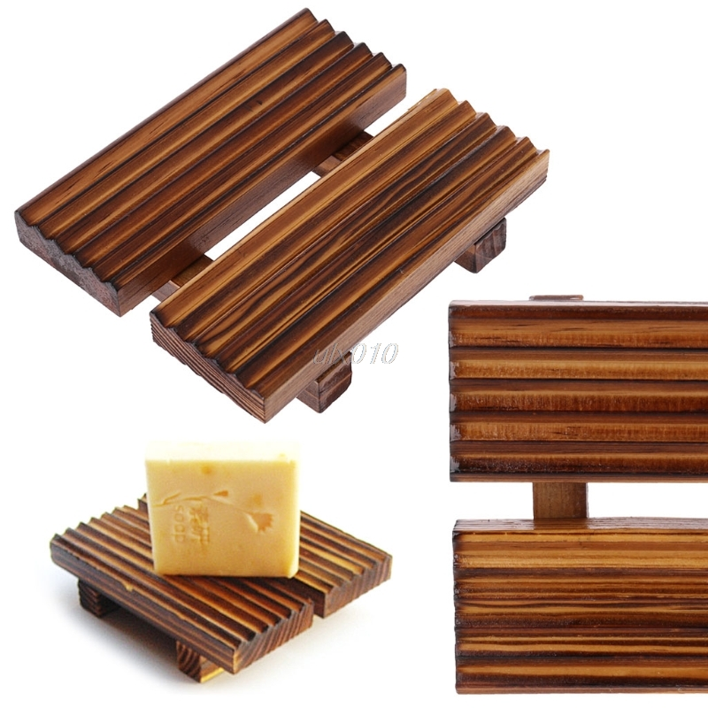 Hot Sale Bath Accessories Handmade Natural Wood Soap Dish Rack ...