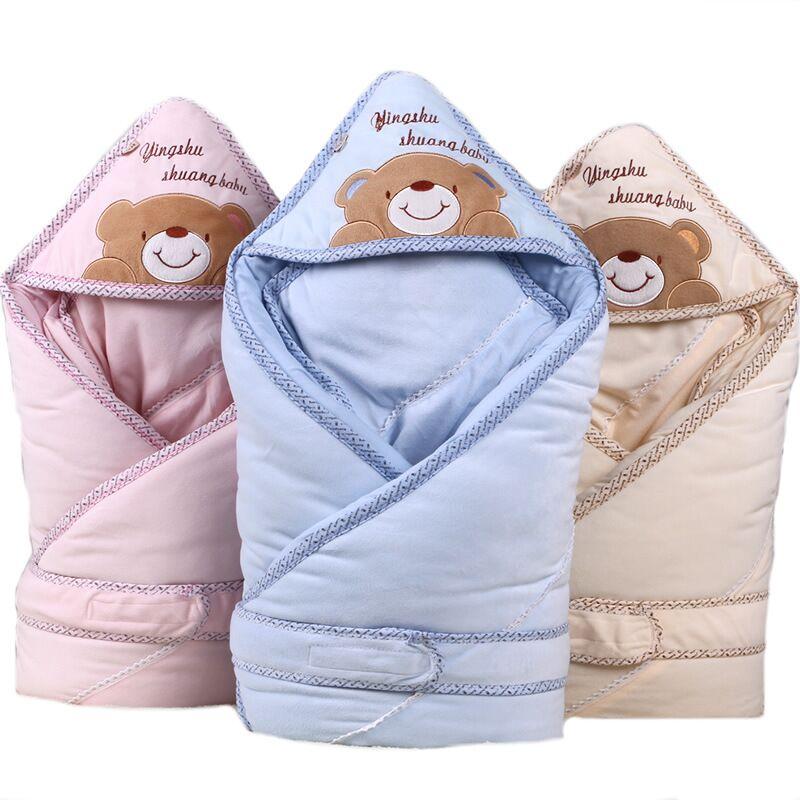 100% Infant Cotton Receiving Blankets Newborn Baby Lovely Sleeping Parisarc Soft Warp Envelop Swaddle Baby Blanket Sleep Sack newborn baby swaddle wrap parisarc 100