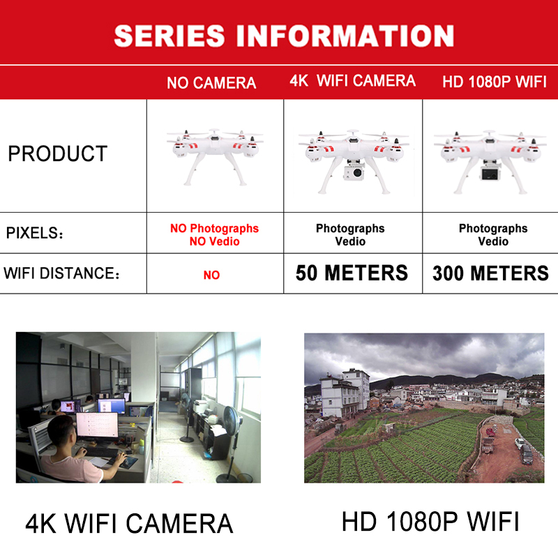 X16 rc drones with camera hd dron GPS height 500 meters fly distance Fpv quadcopter rc helicopter Brushless Motor 4K 1600W Toys 1