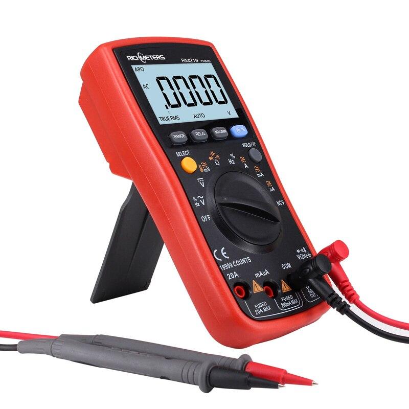 RM219 True-RMS 19999 compte multimètre numérique fréquence NCV mise hors tension automatique AC DC ampèremètre courant Ohm - 5