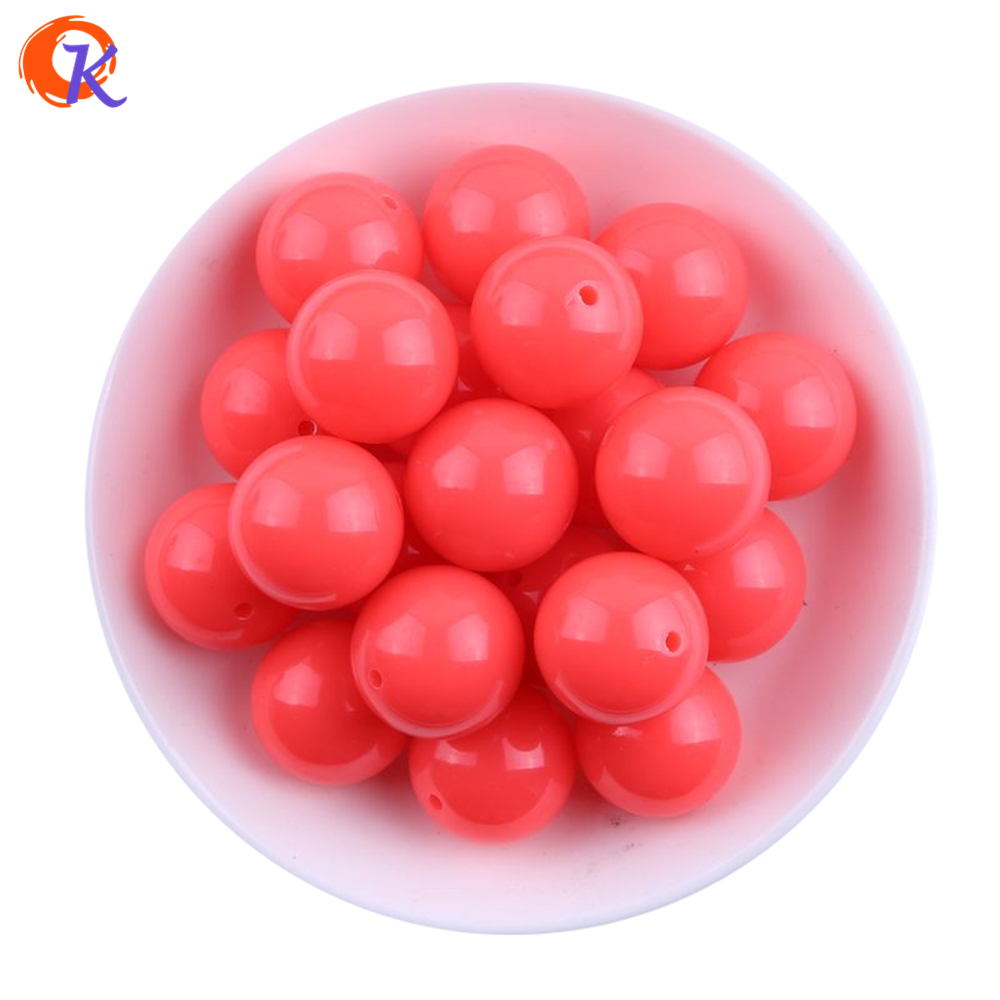 Beads & Jewelry Making Expressive S23 Cordial Design 20mm 100pcs Neon Pink Chunky Bubblegum Acrylic Solid Beads colorful Chunky Beads For Jewelry Cdwb-517254