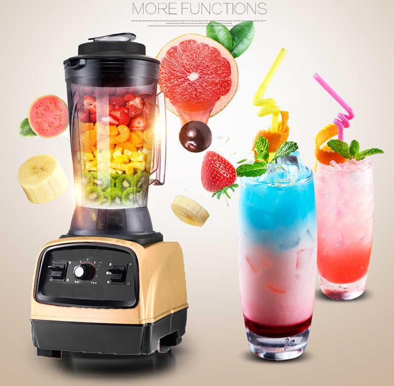 2800 w BPA livre 3.3HP 4L 8 lâmina Pesados Liquidificador Comercial Profissional Poder Misturador Juicer Liquidificador Processador de Alimentos No Japão lâmina