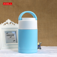 AIWILL 1000ml Colorful High Quality Hot Food Thermos 304 Stainless Steel Insulated Thermal Lunch Box Food