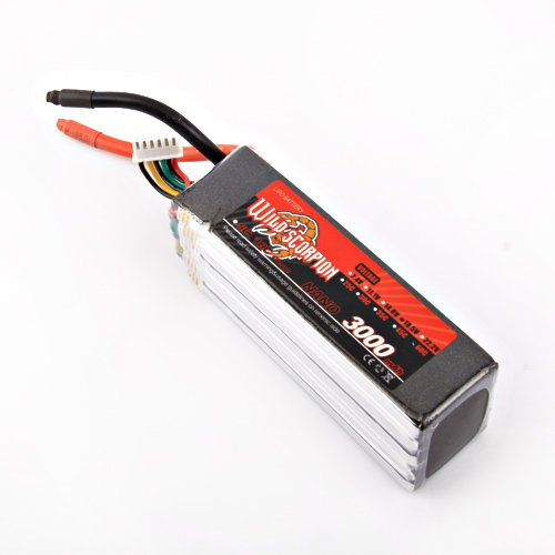 Wild Scorpion RC 18.5V 3000mAh 60C Li-polymer Lipo Battery Helicopter+free shipping wild scorpion rc 18 5v 5500mah 35c li polymer lipo battery helicopter free shipping
