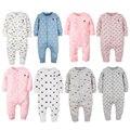 2017 Baby girl roupas romper manga longa roupas macacão bebê recém-nascido bebes meninos pijamas de algodão dos desenhos animados one piece jumpsuit