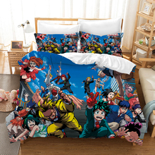 My Hero Academia Anime Bedding Set Duvet Covers Pillowcases Comforter Sets Bedclothes Bed Linen