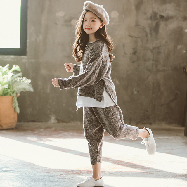 2019 Children Clothing Sets Baby Girls Suit Girls Clothing Sets 2pcs Set 2019 New Spring Baby Girls Clothes Sweater Tops + Pants 3