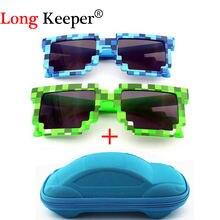 Ybz винтажные Квадратные Солнцезащитные очки новинка мозаика