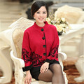 new 2016 women's outerwear middle-age women sweater mother clothing autumn plus size M;L;XL;XXL jacket coat free shipping