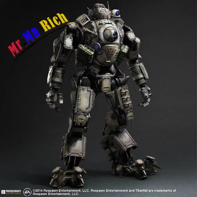 Anime Movie Gams Titanfall Atlas Action Figure Playarts Kai Figurine Toys Collection Model Pvc 27 Cm Play Arts Kai Brinquedos gaku space genji pvc simulation figurine toys model figure