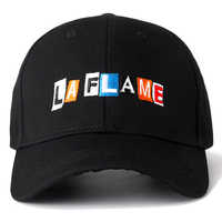 Nuevo gorra de algodón LA llama papá sombrero de alta calidad Travis Scots bordado gorras de béisbol de alta calidad negro Snapback sombreros