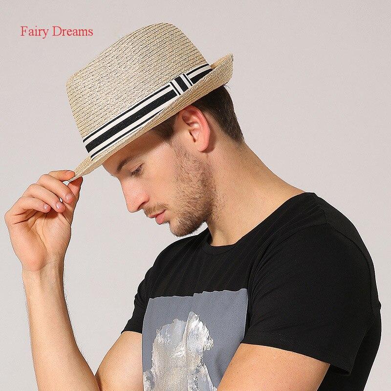 Fairy Dreams Men Straw Hat Adult <font><b>Chapeu</b></font> Masculino Sun Hats Gorra Hombre Fedora Sombreros Summer Vintage Cap 2017 New Style