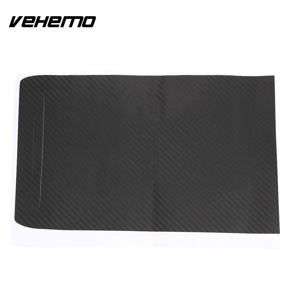 Vehemo Carbon Fiber Car Decals Car Protection Film Door Car Sticker Universal for Tesla Model S and X HIGH GLOSS
