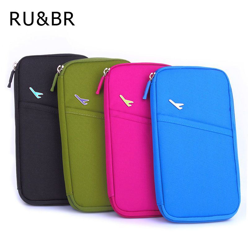 New arrive korean style passport wallet travelus polyester multifunction credit card package id holder travel storage