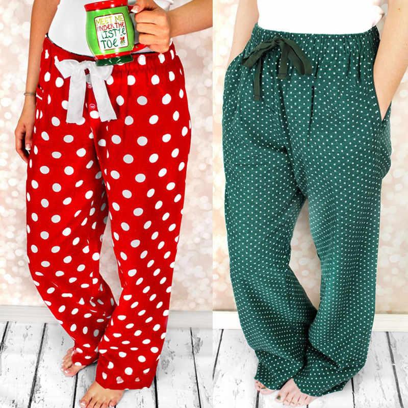 246a301d35 ... Home Pants Women Casual Pyjama Pants Casual Christmas Polka Dot Home  Pants New Unisex Design Loose ...