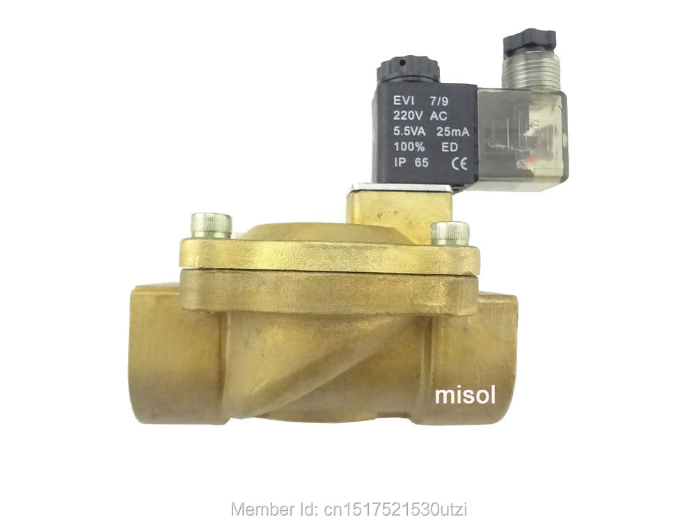 New 220V Electric Solenoid Valve G1(BSP) DN25 for Air Water Gas Diesel dn25 high temperature solenoid valve for steam