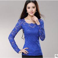 Lace T Shirt Female Spring And Autumn New Korean Version Of Large Size Women S Slim