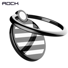 Universal Metal Ring Holder, ROCK Slim Alloy Ring Holder Colorful 360 Rotation Finger Ring Holder Stand for iPhone 7 6 Galaxy S8