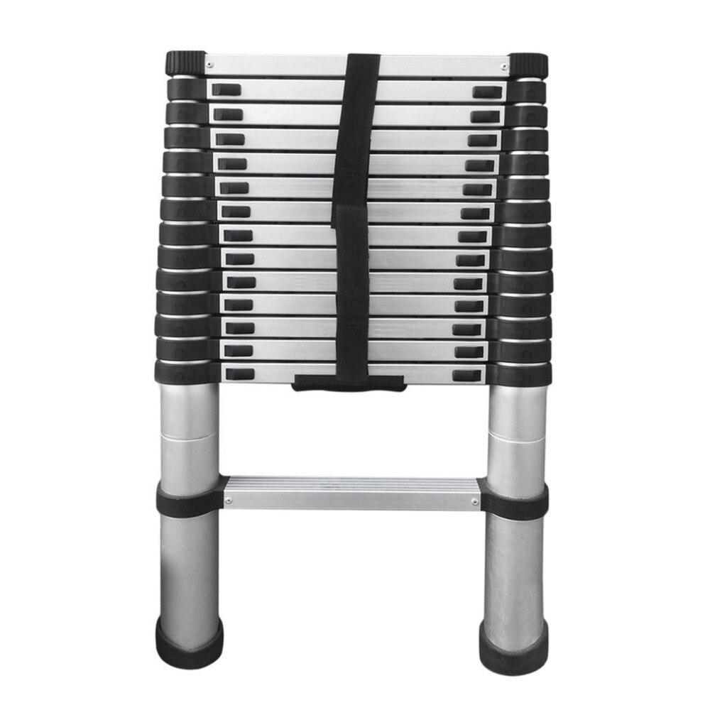4.4 M de comprimento Espessamento Alumínio Escada Retrátil Dobrável Multifuncional Escada Telescópica Único Início Ferramenta Kits De Higiene Pessoal 2019