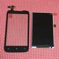 De calidad superior negro sensor exterior de cristal digitalizador de pantalla táctil + pantalla lcd para lenovo a369 a369i a369t sustitución smartphone