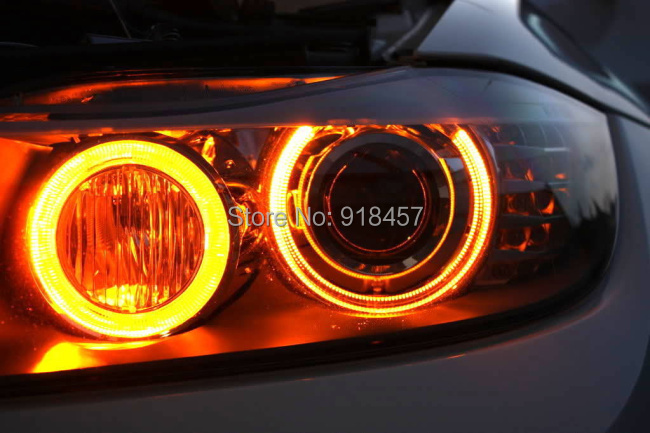 2x 6w 12w Amber Yellow Led Angel Eyes Marker Halo Ring Bulb For Bmw
